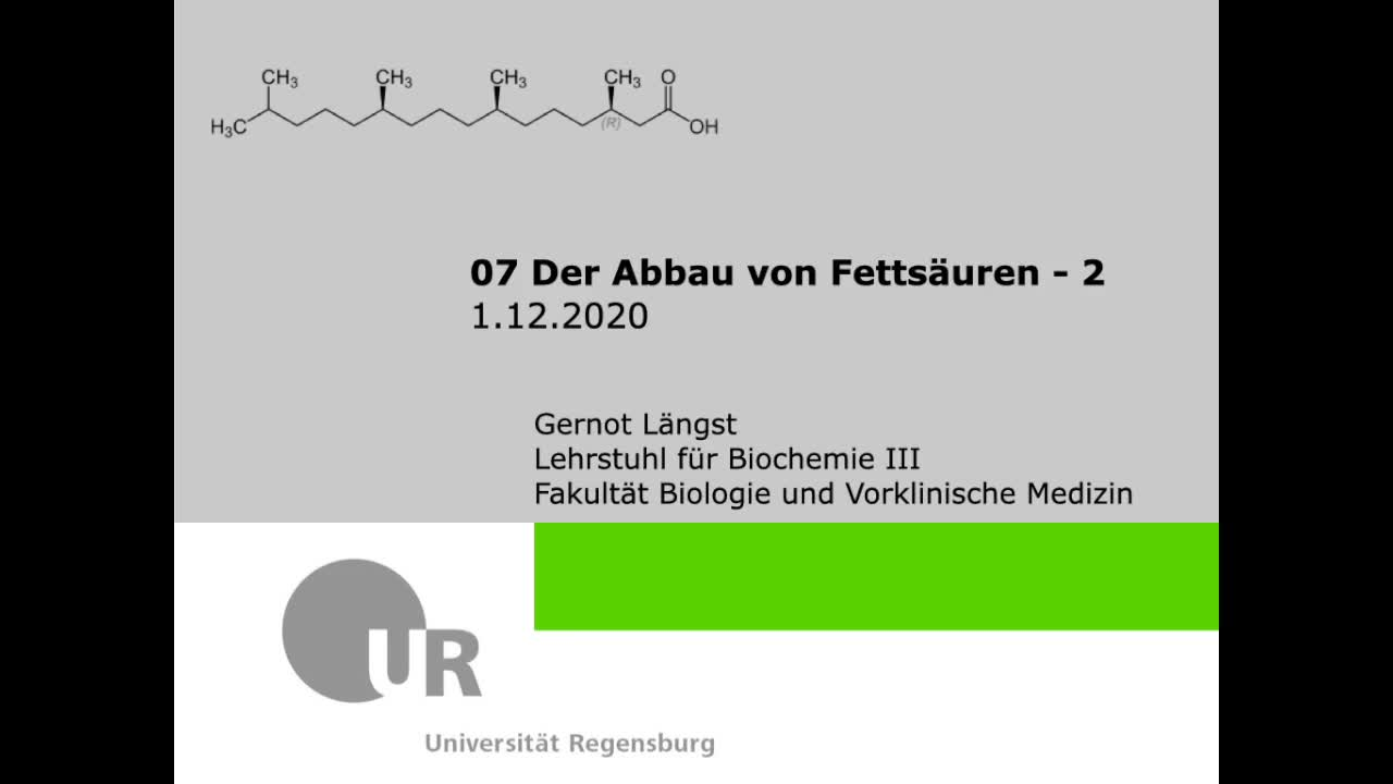 35 beta-Oxidation Teil2 - Längst 1-12-2020