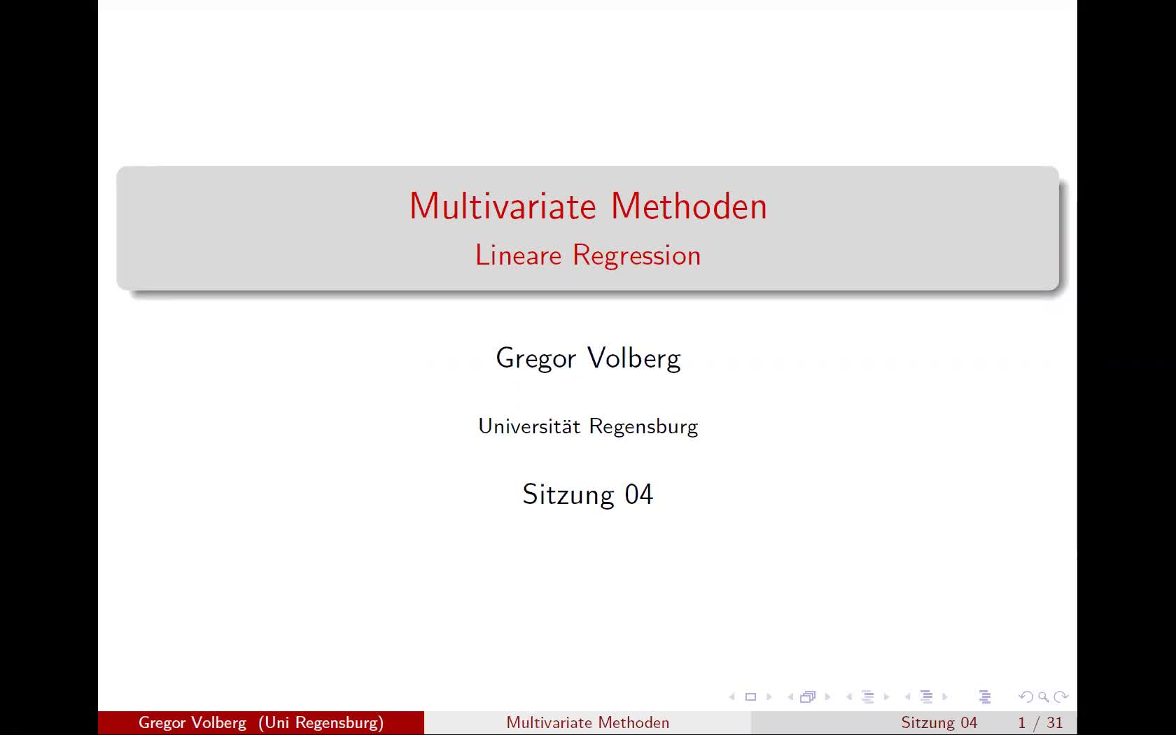 Lineare Regression - Theorie