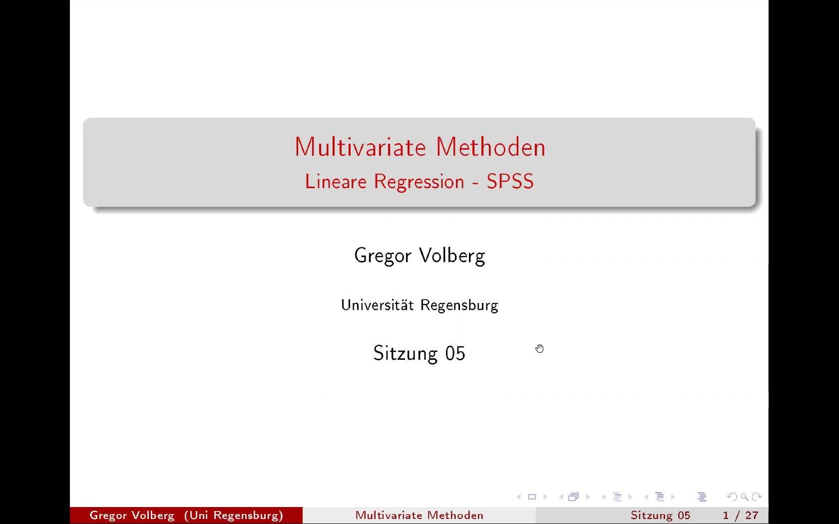 Lineare Regression - SPSS