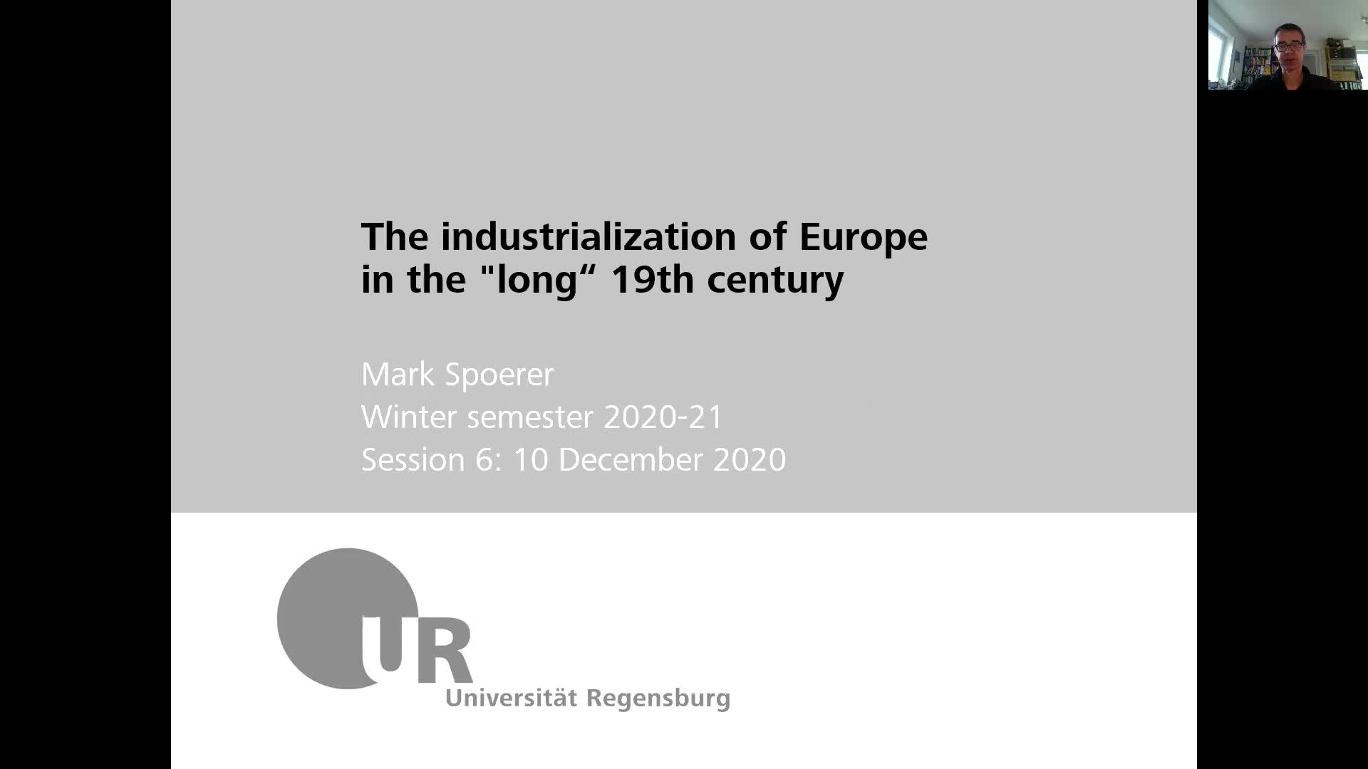 Industrialization - lecture 6