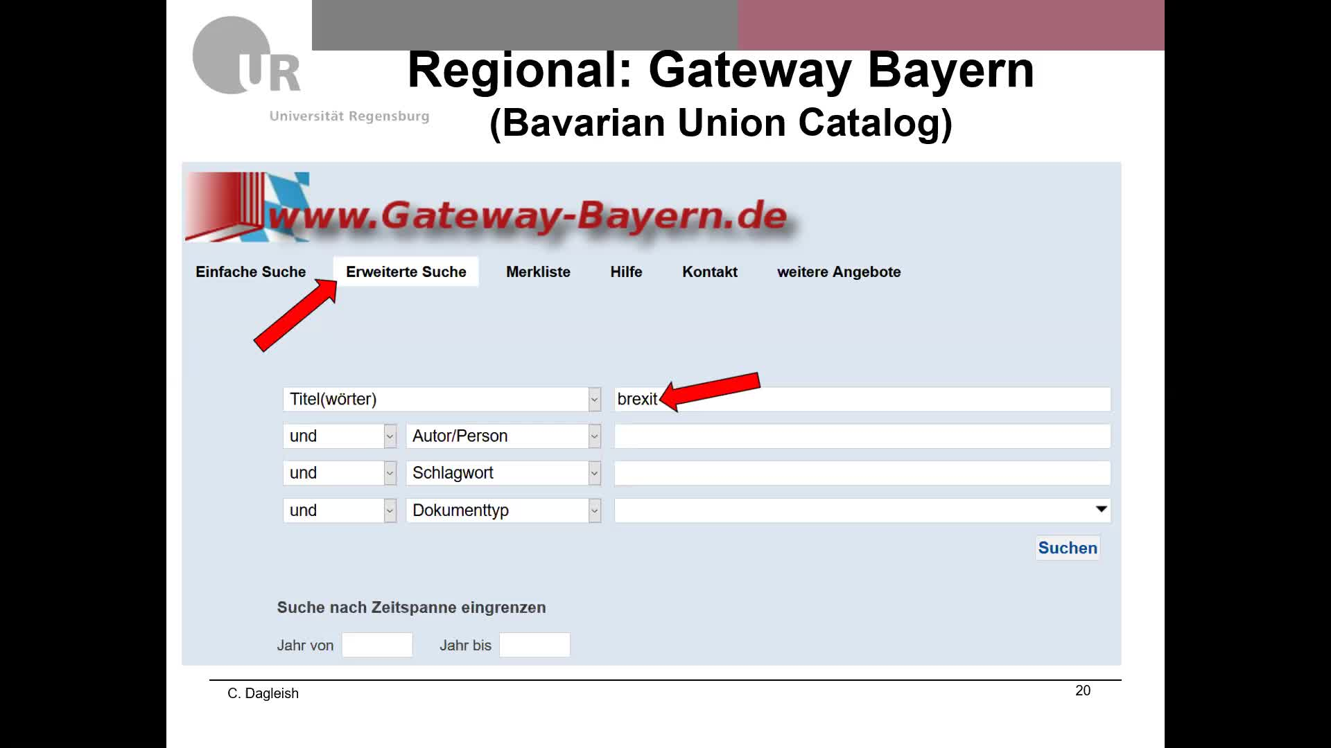 Tutorial: Introduction to Library Resources English Studies - Chris Dagleish