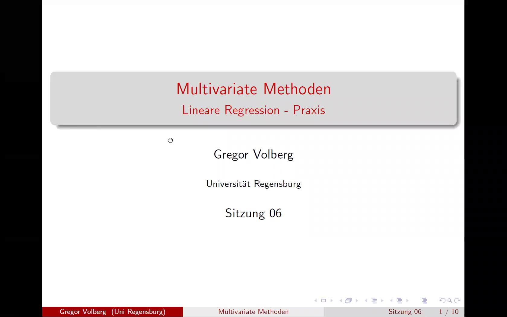 Multivariate Methoden: Lineare Regression - Praxis
