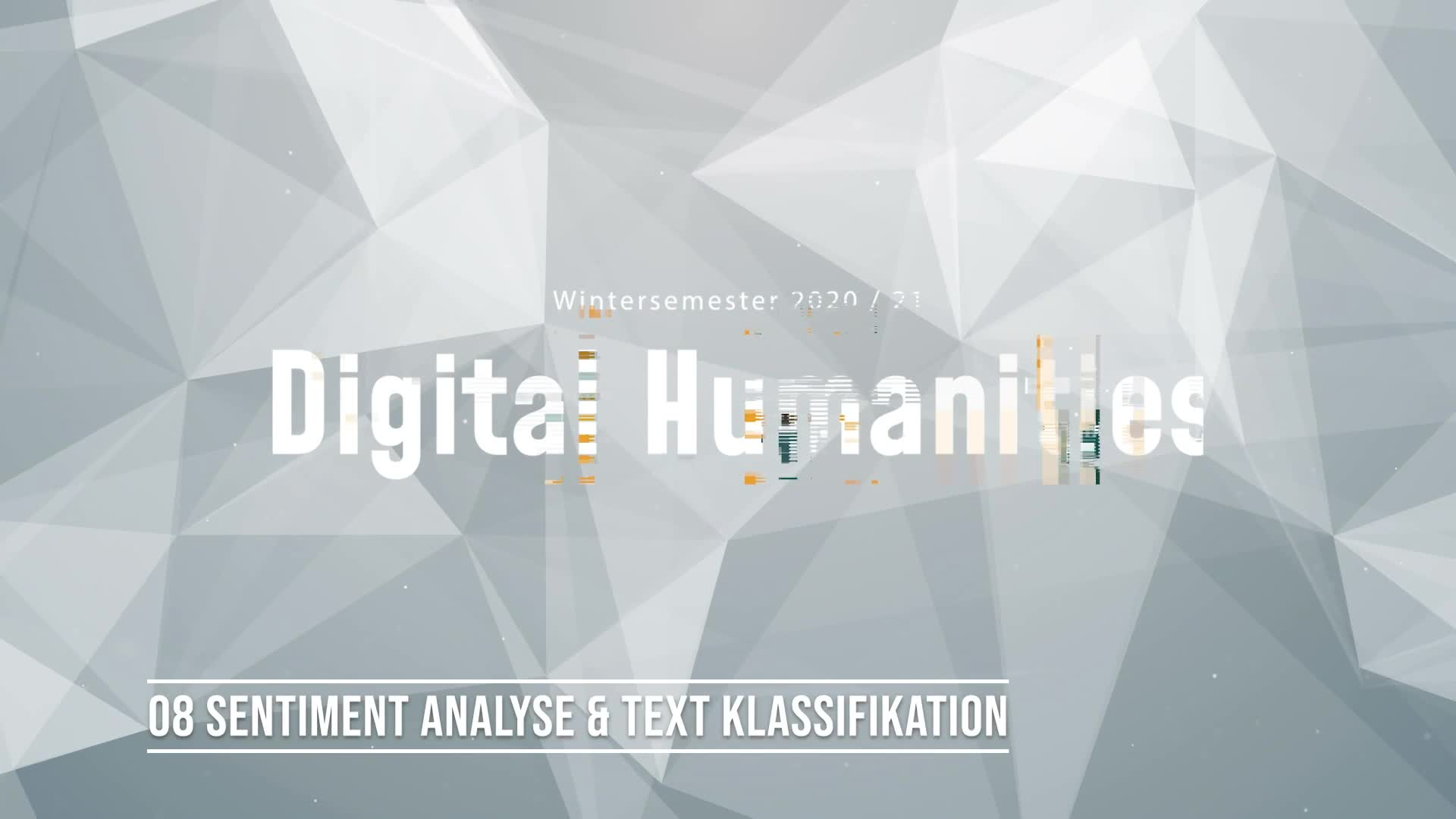 08 Sentiment Analyse & Text Klassifikation
