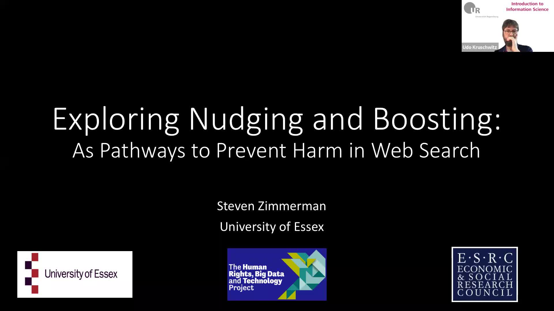 Introduction to Information Science - Lecture 8 (Guest lecture: Exploring Nudging and Boosting)