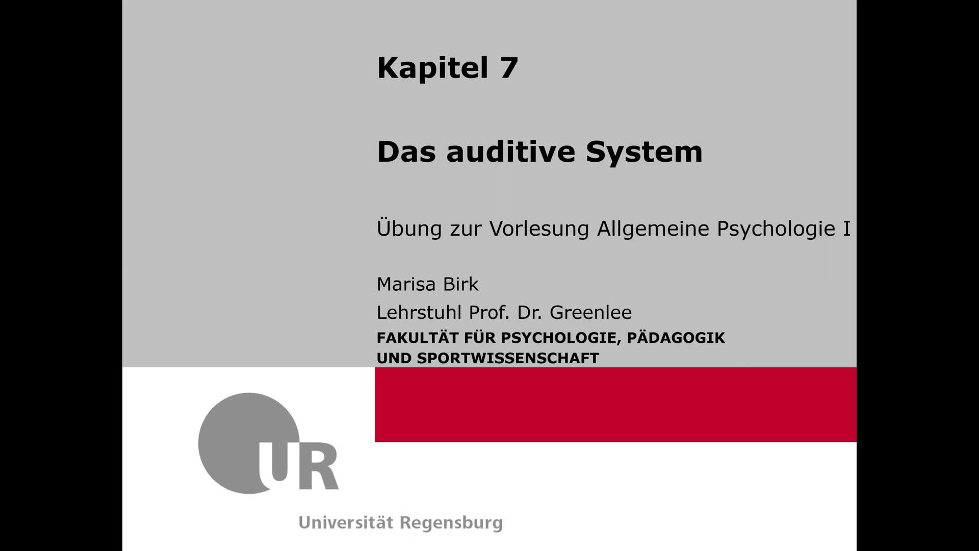 7. Das auditive System