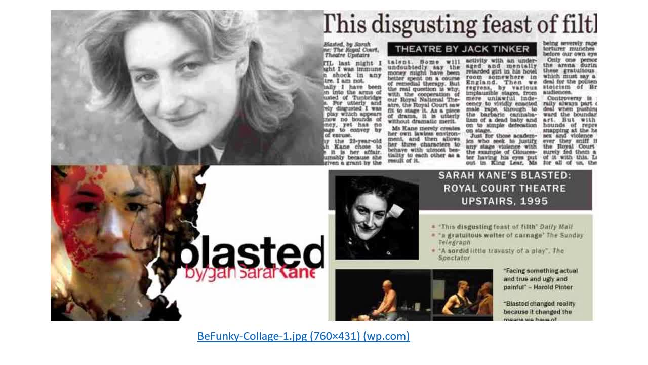 Sarah Kane and Blasted Introduction