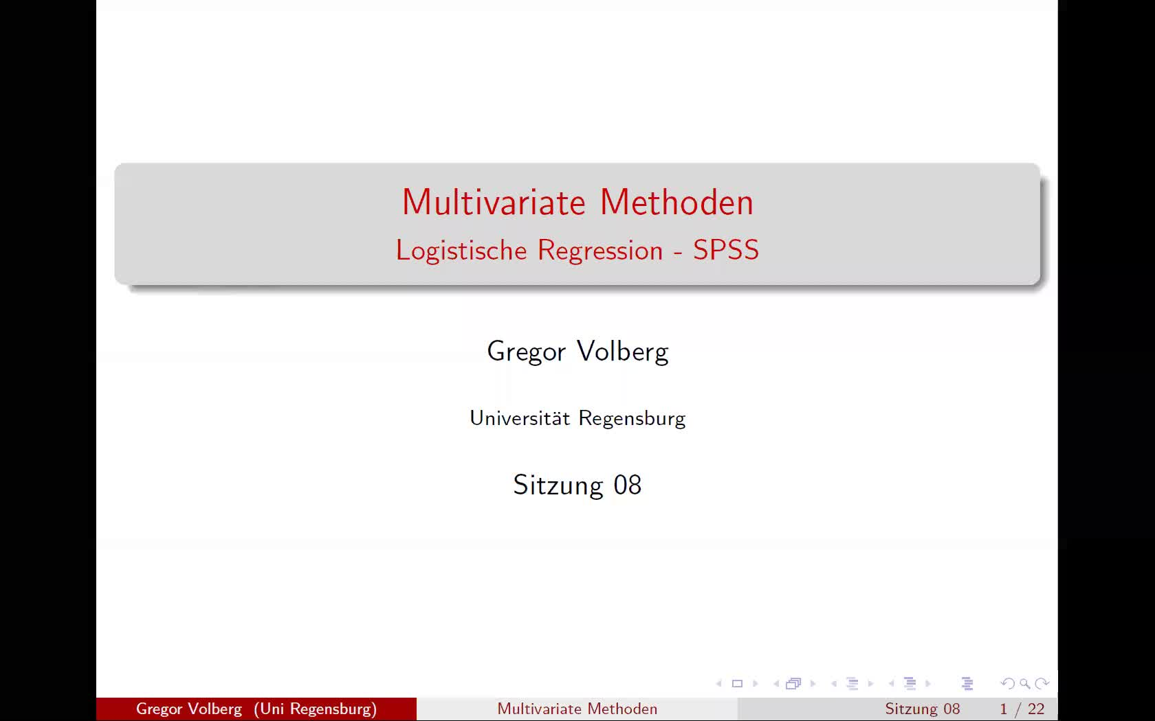 Logistische Regression - SPSS