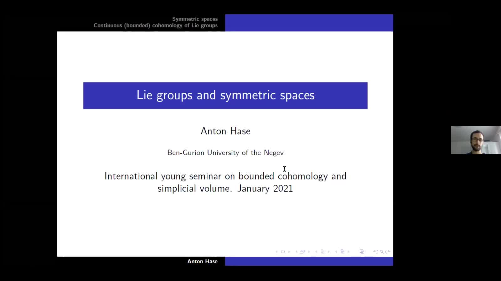 Lie groups and symmetric spaces