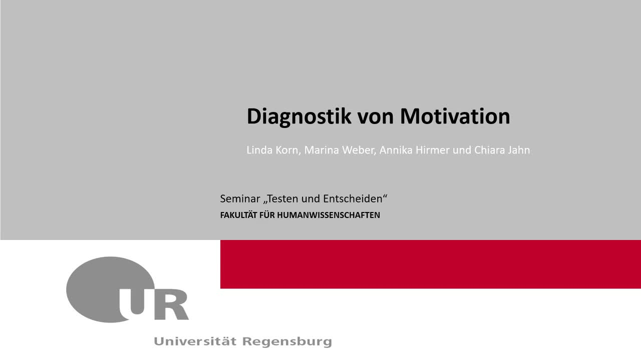 Diagnostik Von Motivation Gruppe1