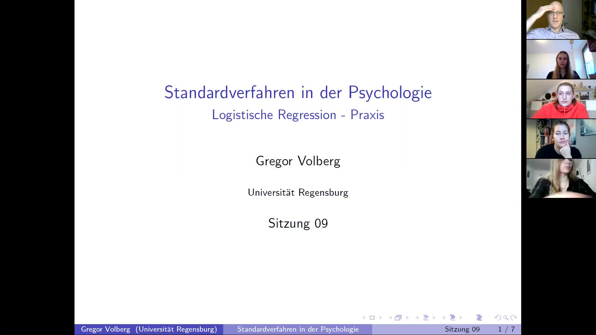 Screencast Logistische Regression - Praxis