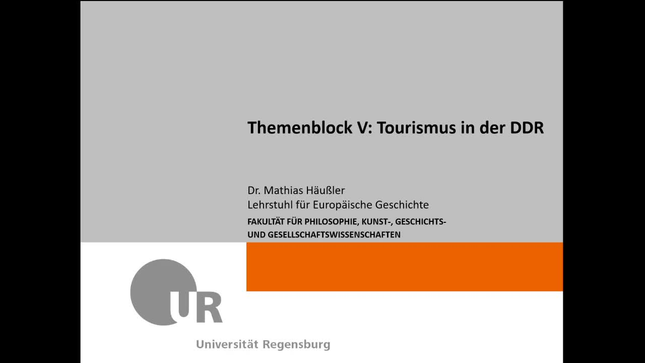 [Video] Themenblock V - Tourismus in der DDR