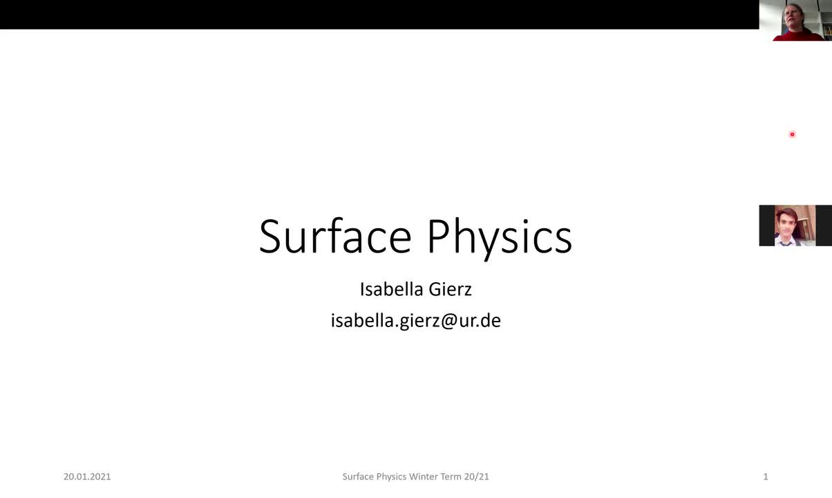 Surface Physics Lecture 20210120: Optical Properties of Surfaces, RAS, SHG