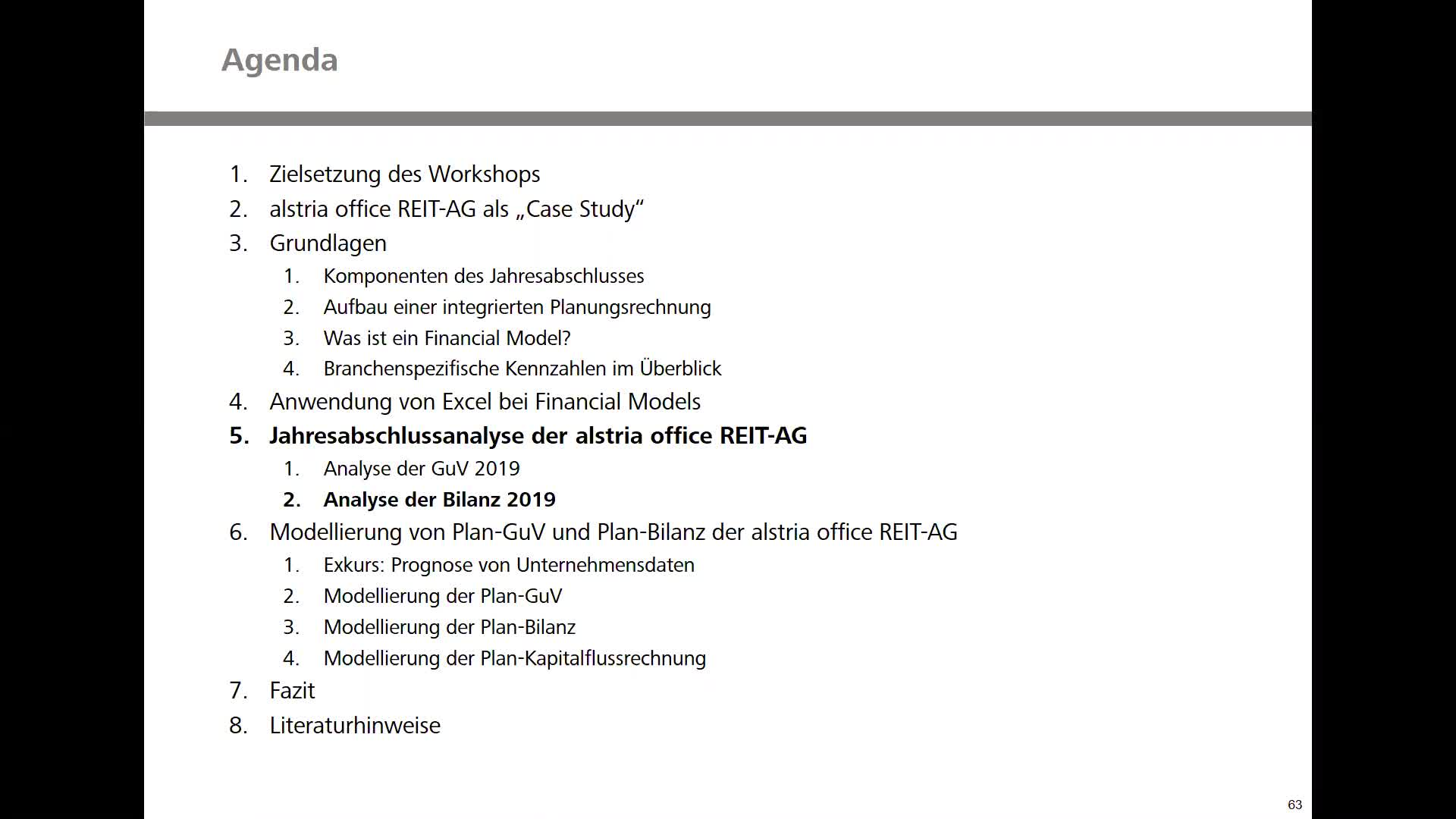 Real Estate Financial Modeling - Teil 3: Analyse der Bilanz