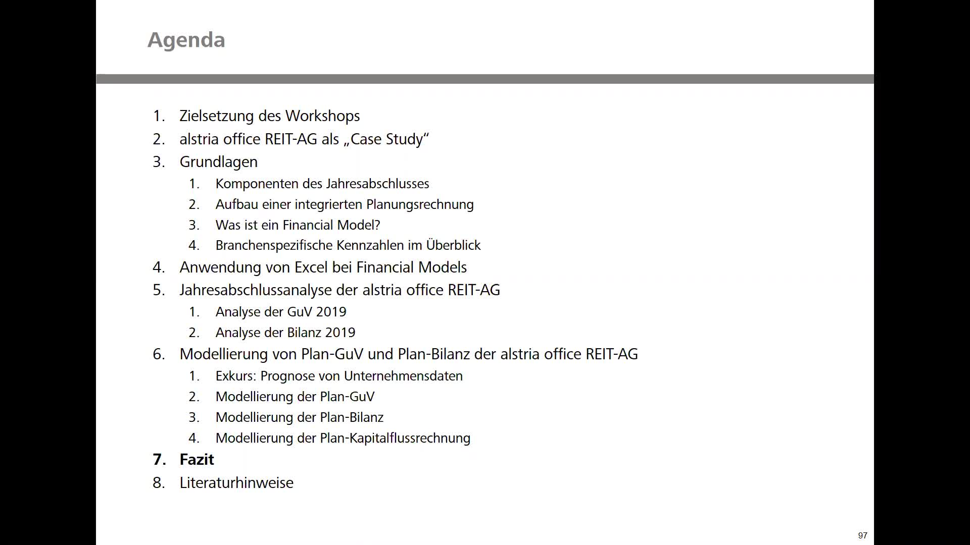 Real Estate Financial Modeling - Teil 7: Fazit
