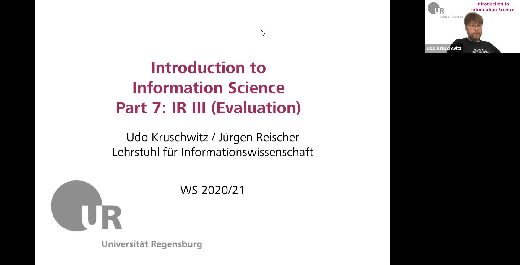 Introduction to Information Science - Lecture 11 (Information Retrieval III)