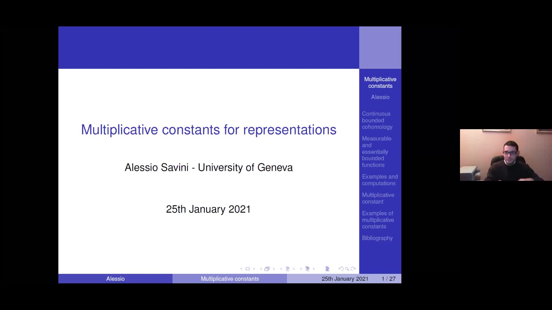 Multiplicative constants for representations