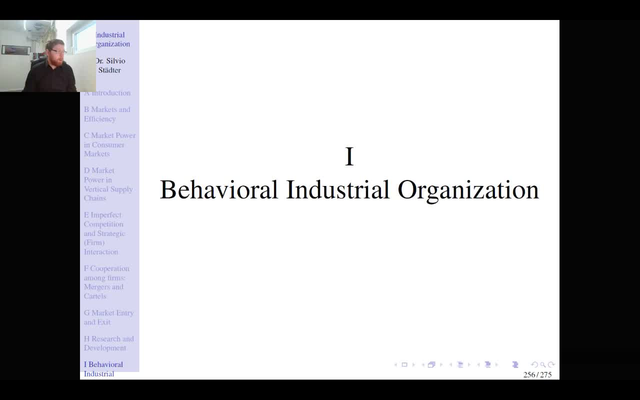 Lecture 10 - Industrial Organization - Winter Term 2020/21
