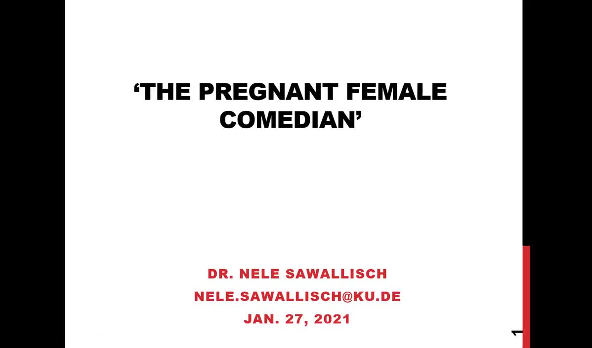Guest Lecture: The Pregnant Female Comedian