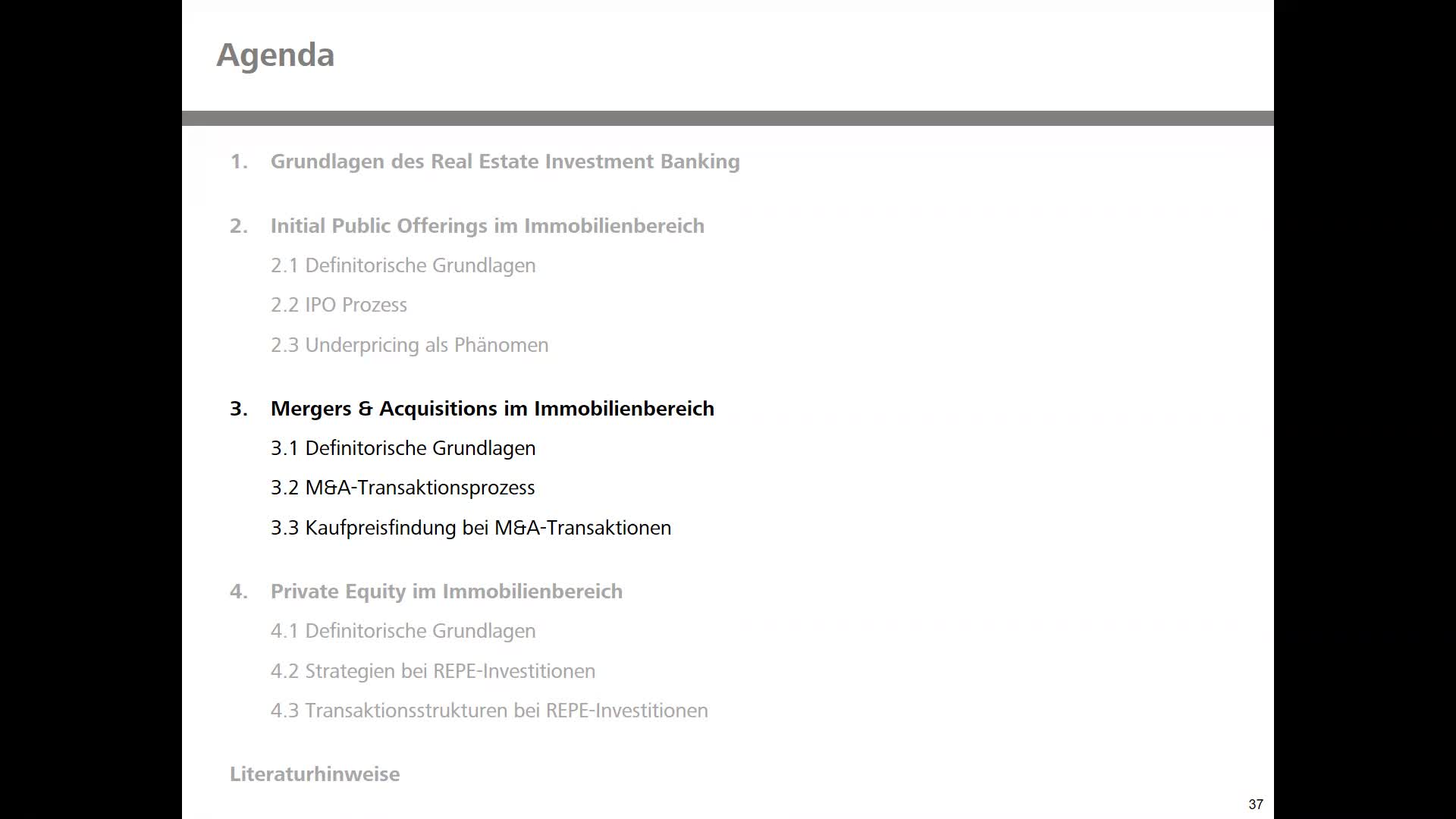 Immobilienbanking Real Estate Investmentbanking Teil 1 Kapitel 3&4