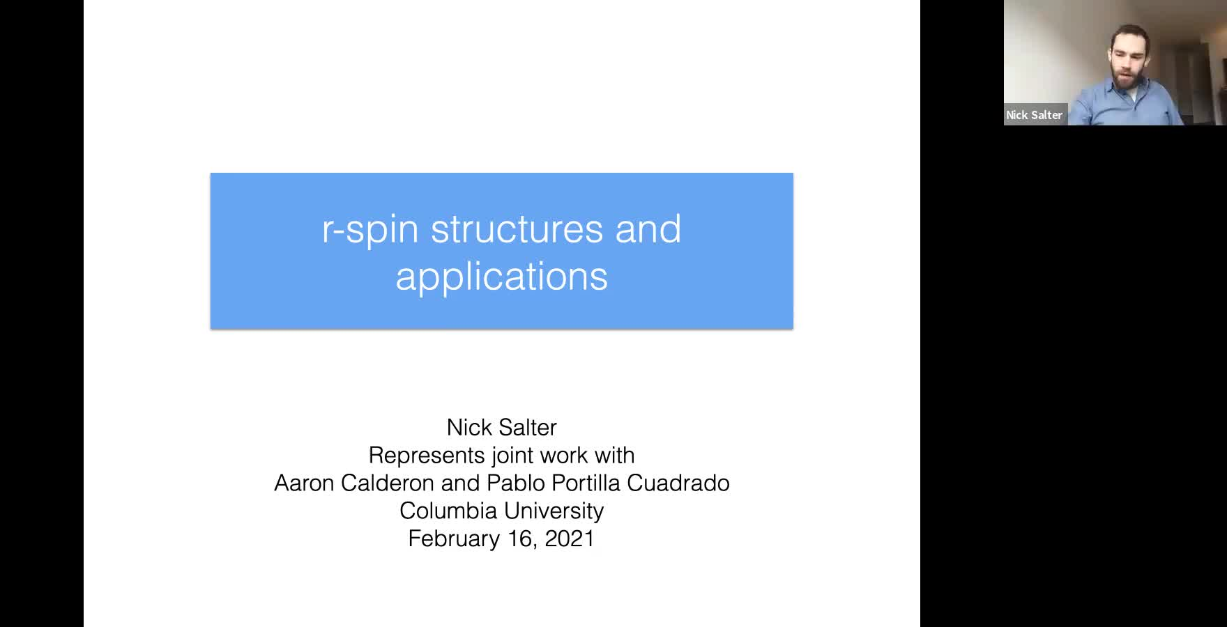Nick Salter: r-spin mapping class groups and applications