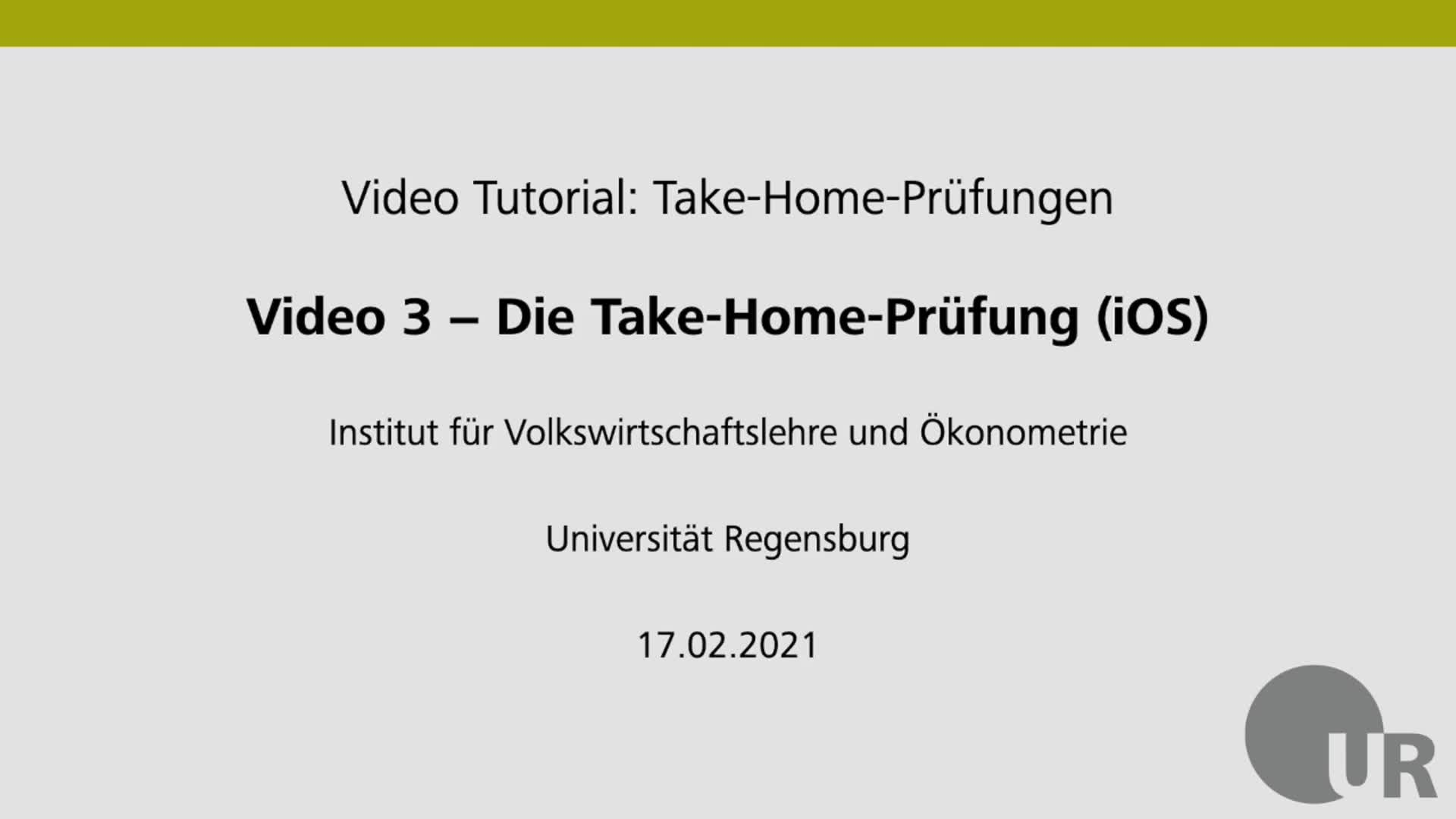 Video 3 - Die Take-Home-Prüfung (iOS)