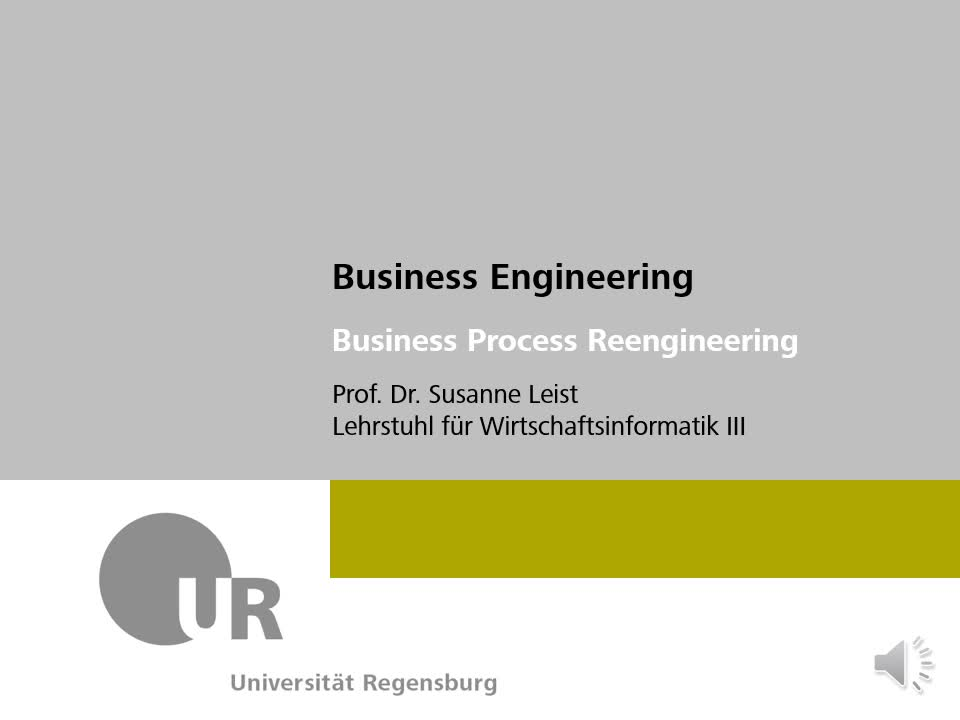 Business Process Reengineering Teil 1