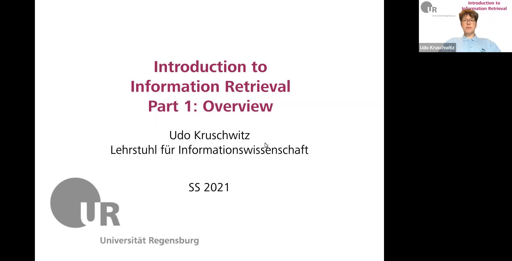 Introduction to Information Retrieval - Lecture 1 (Overview)