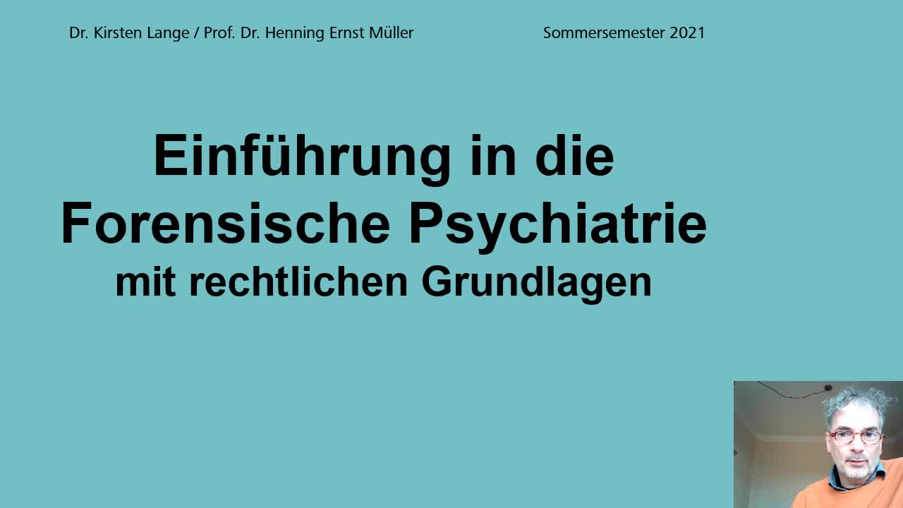Einf. in die For. Psychiatrie Teil 1