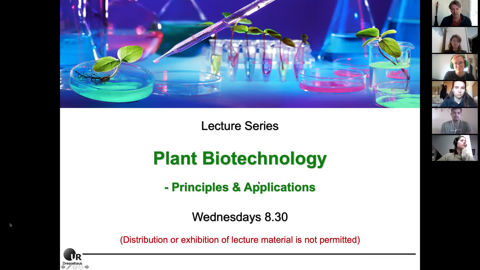 Plant Biotechnology Lecture 1a