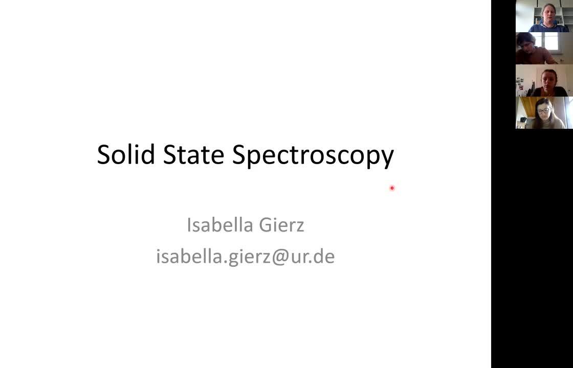 Solid State Spectroscopy 20210415: Licht Sources, Optical Elements