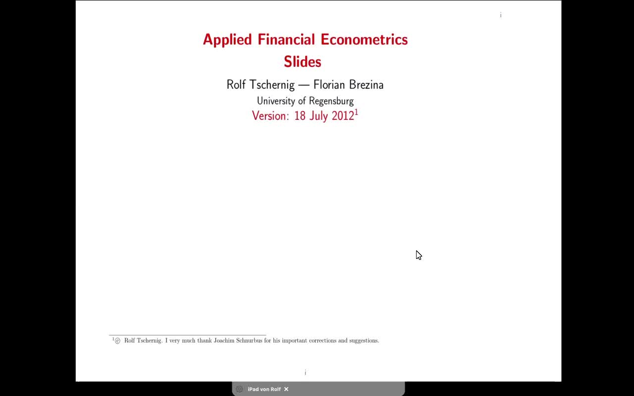 Applied Financial Econometrics - 2021 - lecture 1
