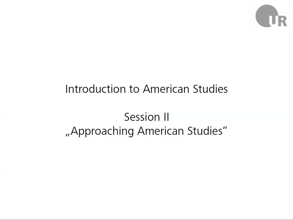 Session 2: Approaching American Studies