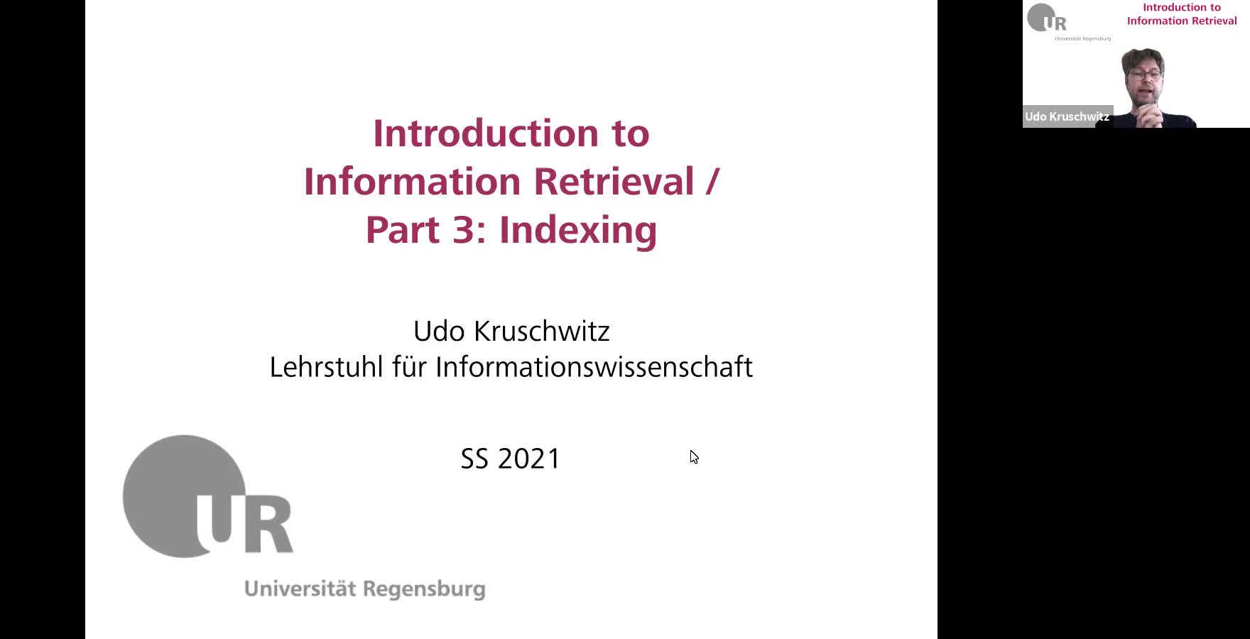 Introduction to Information Retrieval - Lecture 3 (Indexing)