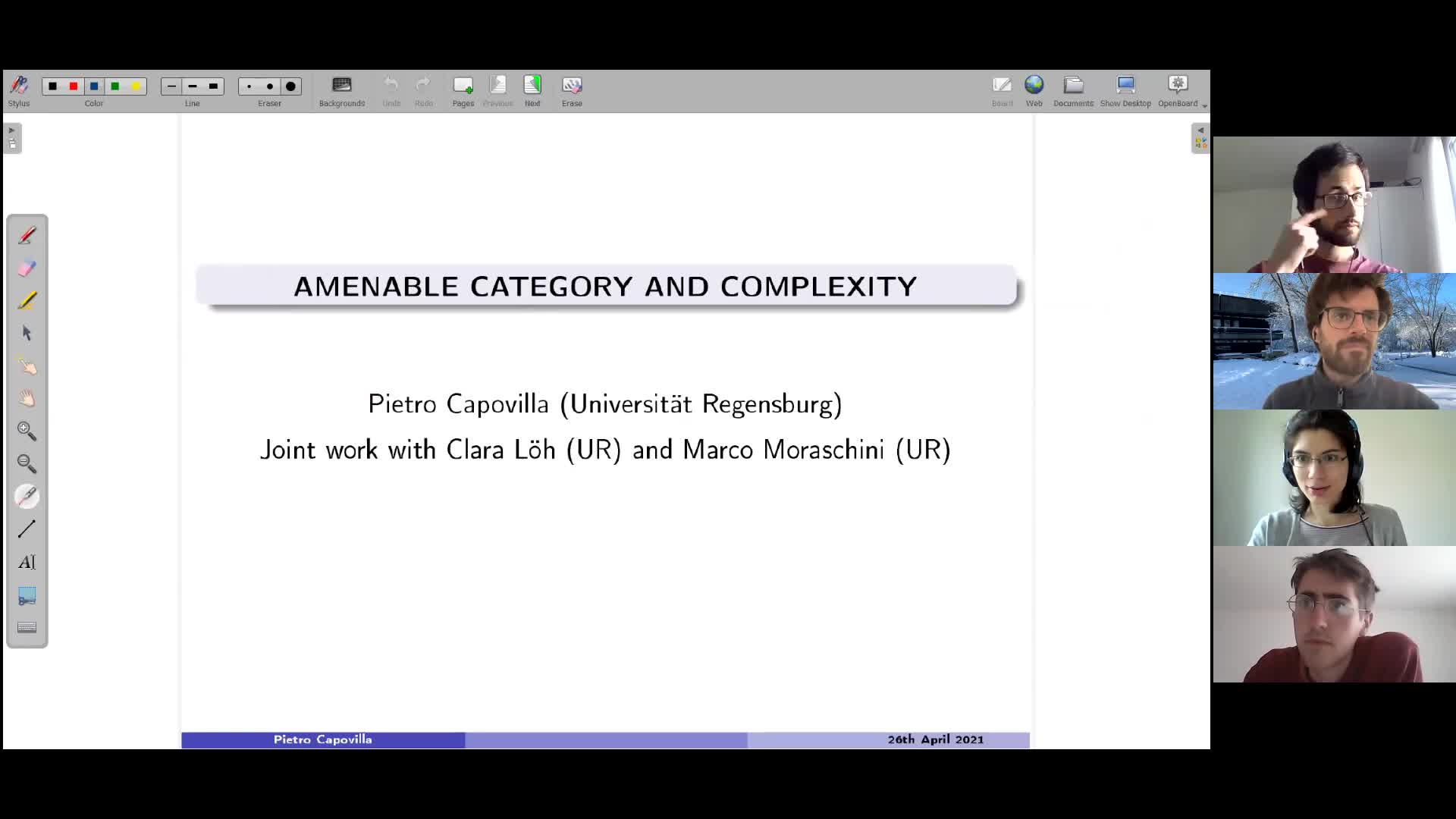 Amenable category and complexity