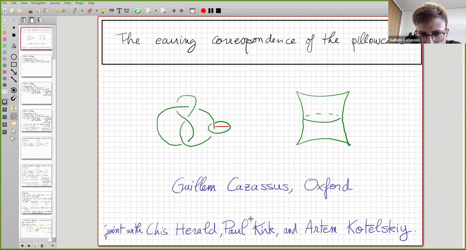 Guillem Cazassus: The earring correspondence of the pillowcase