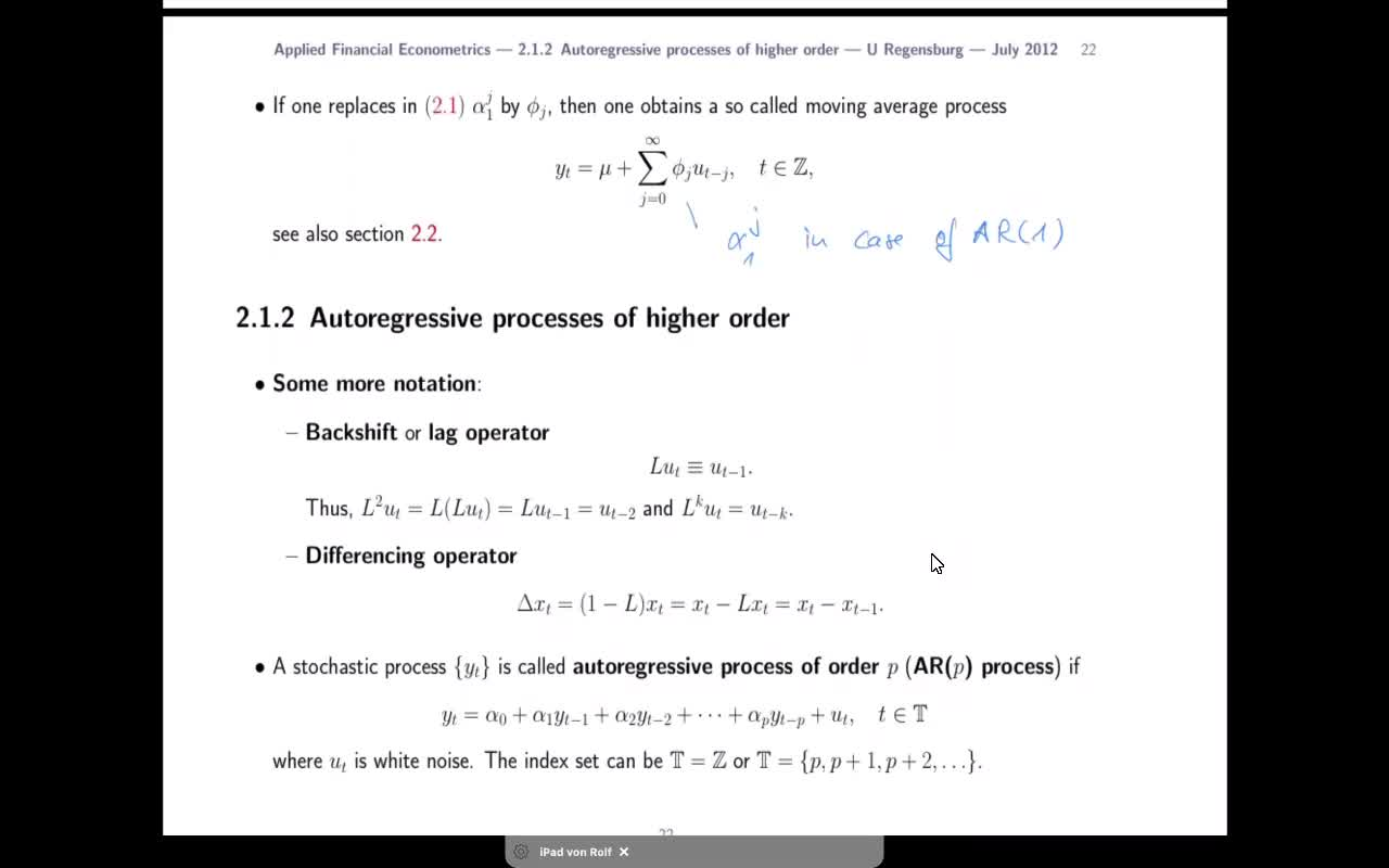 Applied Financial Econometrics - 2021 - lecture 3