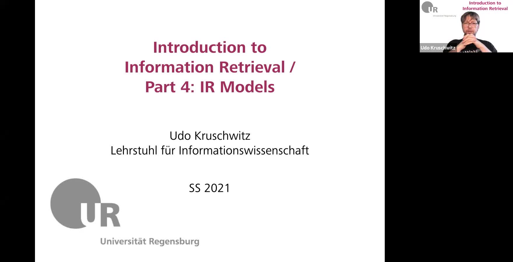 Introduction to Information Retrieval - Lecture 4 (IR Models)
