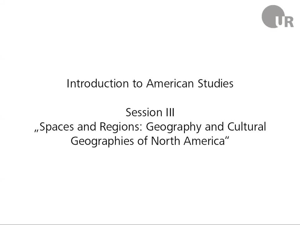 Session 3: Spaces and Regions