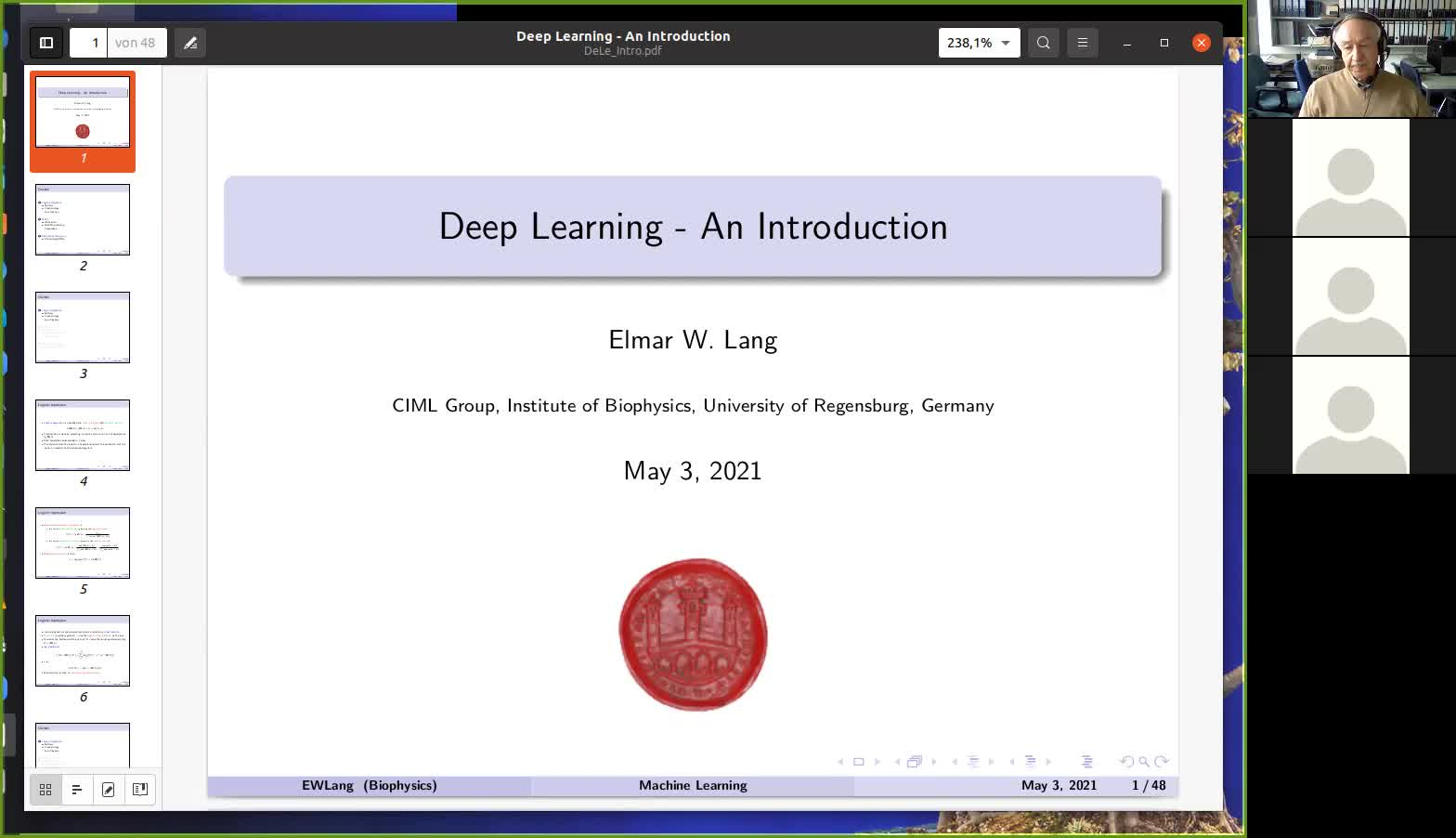 Introduction to Deep Learning I