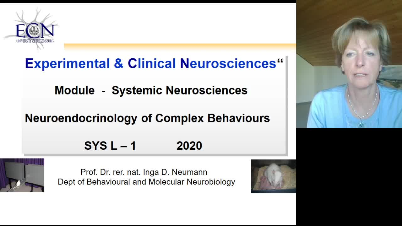 Neuroendocrinology of Emotionality , Social Behaviour & Stress (Lecture 1)