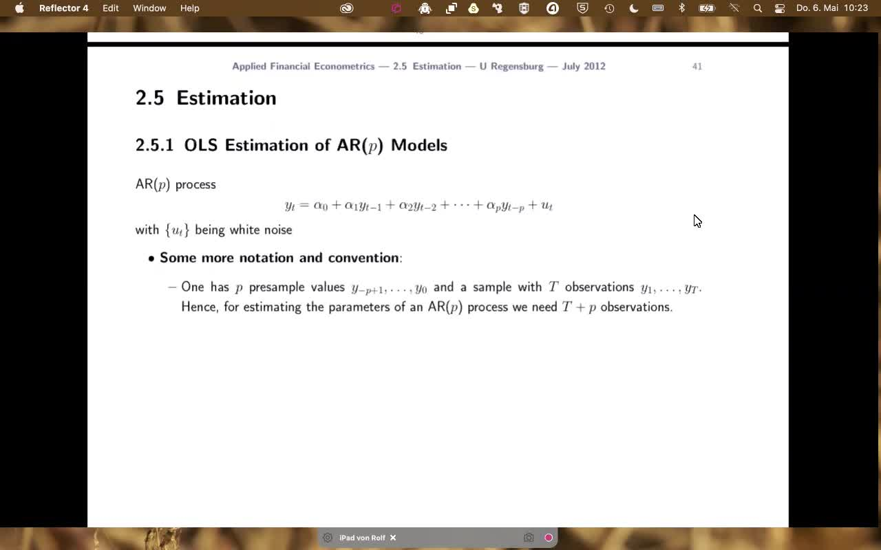 Applied Financial Econometrics - 2021 - lecture 4