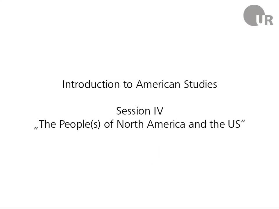 Session 4: The People(s) of North America and the US