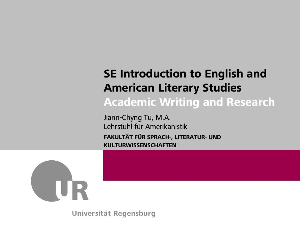 SoSe 21_SE Intro Lit_Academic Writing and Research