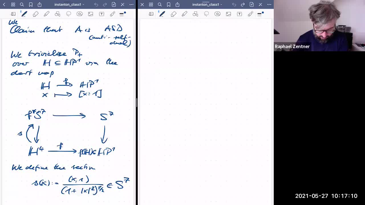 Instanton gauge theory class 7 on 27 May 21