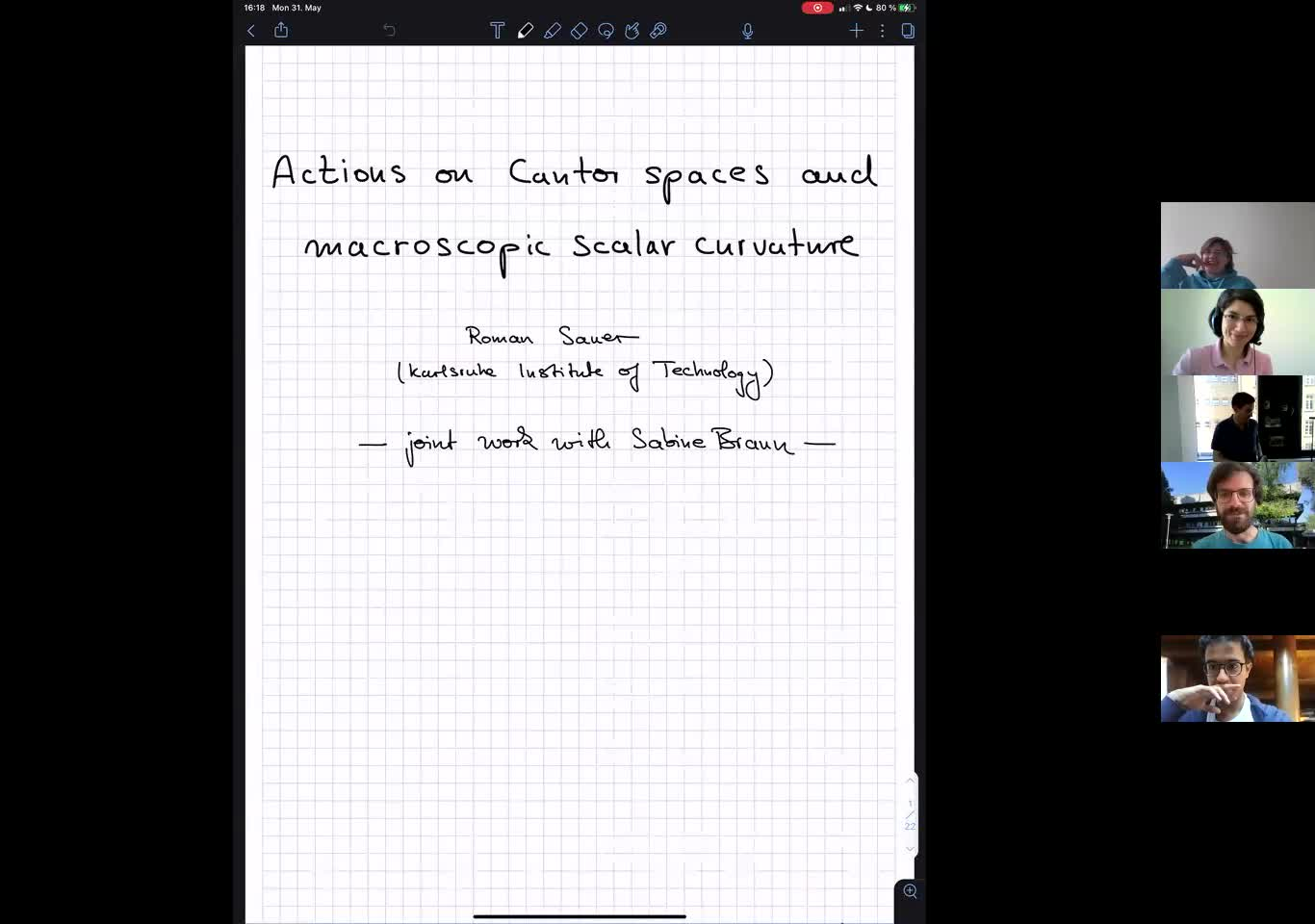 Actions on Cantor spaces and macroscopic scalar curvature