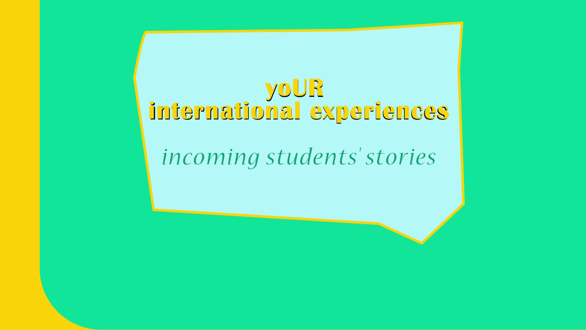 Interview with incoming students - Giacomo from Italy