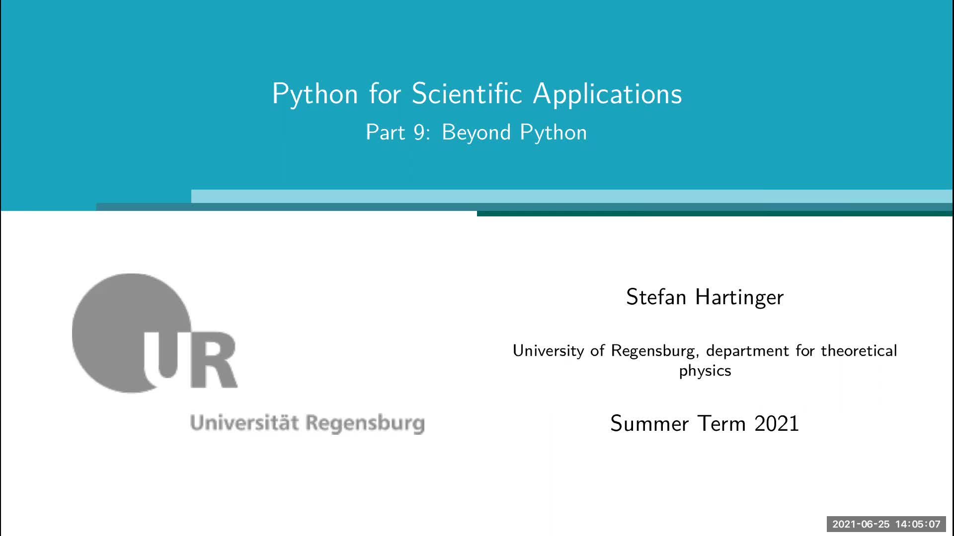 Lecture 09: Beyond Python
