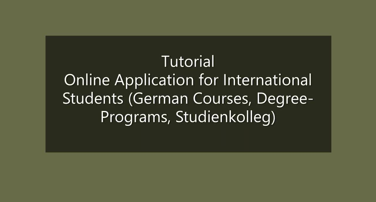 Tutorial - Application to UR for international students