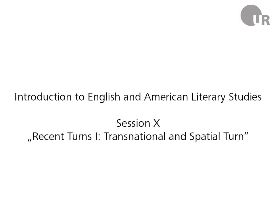 Sesion 10: Recent Turns I - Transnational and Spatial Turn