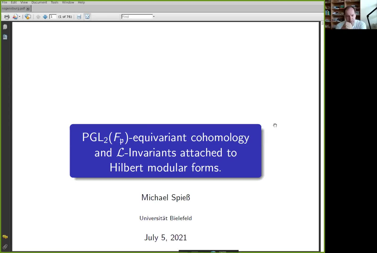PGL_2(F_p)-equivariant Cohomology and L-invariants attached to Hilbert modular forms